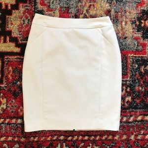 H&M Cream Pencil Skirt